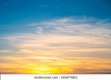 Sunset sky for background,sunrise sky and cloud at morning,nature for design art work.