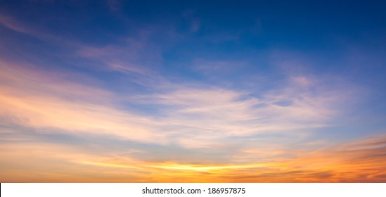 Sunset sky and cloud background