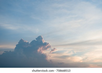 sunset sky and cloud twilight scene background as golden hour, dragon shape