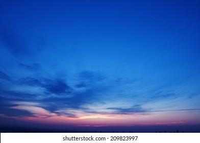 Sunset sky - clouds