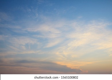 Sunset sky and clouds background.
