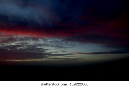 Sunset sky with dramatic clouds