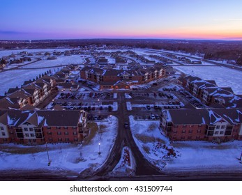 Sunset sky during winter in Saint Cloud Minnesota USA