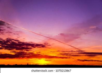 Sunset in the Sky Fiery Heaven