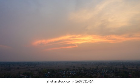 Sunset sky magenta orange gradient mesh Impressive saturated colors