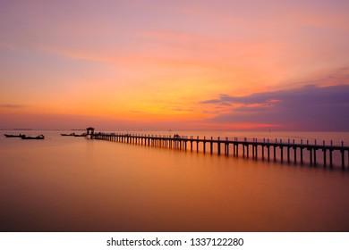 Sunset sky on sea thailand