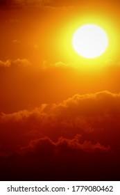 Sunset sky orange sky orange cloud outdoor summer nature backgound