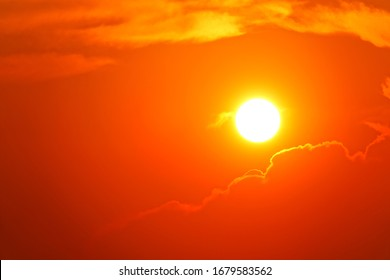 Sunset sky orange sky red cloud outdoor summer nature backgound