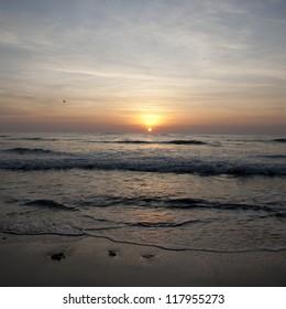Sunset sky over Costa Rica