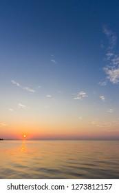 sunset sky over sea in the evening,Dusk sky vertical