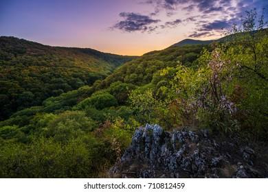 Sunset sky over Hlbo?a valey Slovakia - Obloha po západe slnka ponad dolinou Hlbo?a v Smoleniciach