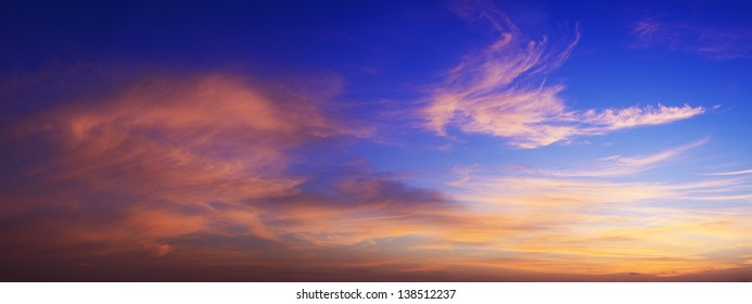 Sunset sky panorama in high resolution