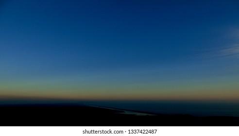 Sunset sky and sea