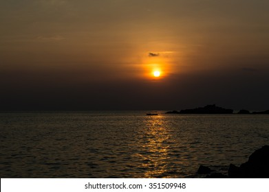 Sunset sky and sea background