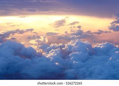 Sunset sky views windows plane