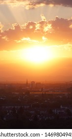 Sunset Skyline Karlsruhe City (Germany) 9:16