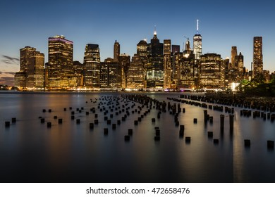 Sunset Skyline of New York