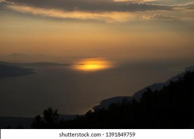 Sunset Sunset Water Sunset Cloud Sunset Beach Palm Tropical