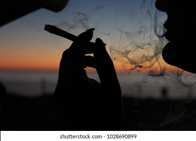 Sunset smoke session