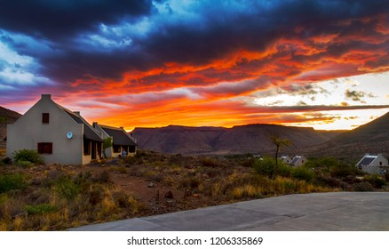 Sunset in the South African Karoo