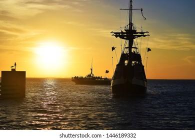 sunset at South padre Island
