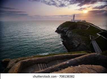 Sunset at South Stack Lighthouse, Holyhead