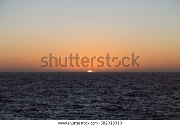 Sunset in the Southern Ocean