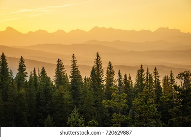 Sunset at Southern part of Alberta, Canada