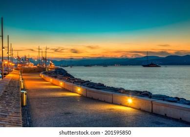 Sunset in St Tropez port