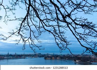 Sunset Stockholm City