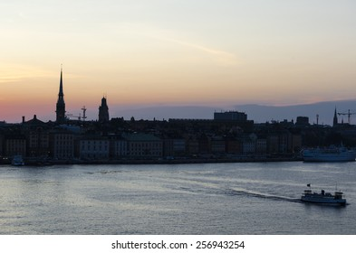 Sunset in Stockholm, Sweden