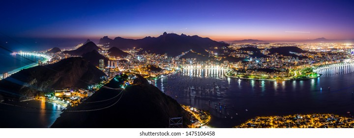 Sunset from Sugarloaf Mountain and an incredible view of Rio De Janiero.