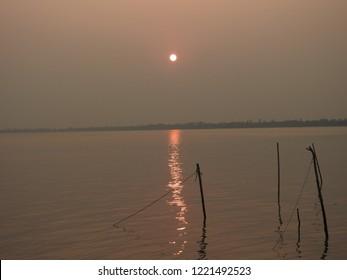sunset at sundarbans