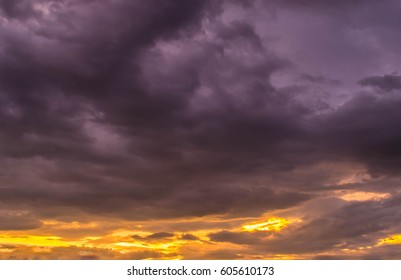 Sunset and sunrise clouds scape