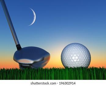 Sunset or Sunrise Golf