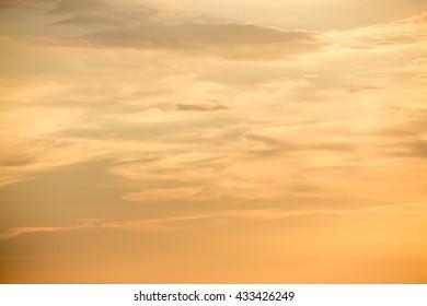 Sunset or sunrise Sky Background,sunset or sunrise with orange sky