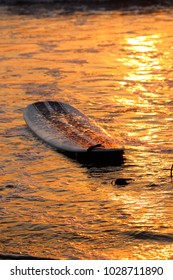 Sunset Surfing In California