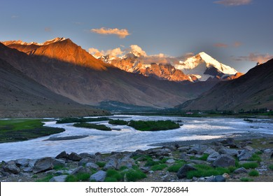 Sunset  - Suru river - Kargil district, Ladakh, Himalayas, Jammu and Kashmir, Northern India