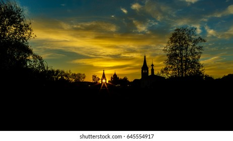 Sunset in Suzdal