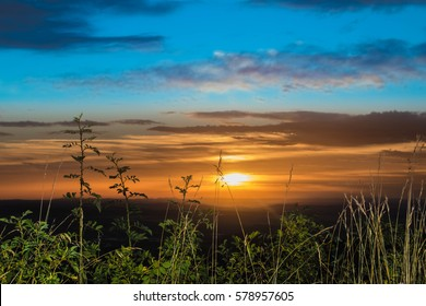 Sunset Swabian Alps