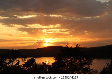 Sunset at Table Rock Lake from Big Cedar