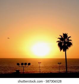 Sunset taken from Santa Monica Pier, Los Angeles