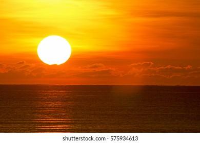 Sunset at Tangjung Aru, Kota Kinabalu Sabah. This beach will be reclaimed soon in 2017