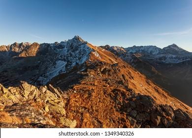 Sunset in the Tatras - Poland