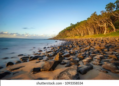 Sunset at Tea Tree Bay, Noosa National Park, Noosa Heads, Sunshine Coast, Queensland, Australia