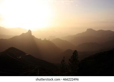 Sunset at Tejeda Valley, Gran Canaria, Spain