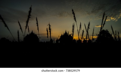 Sunset in Temple, Central Java