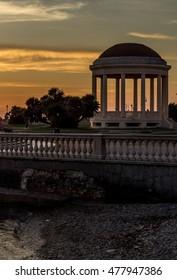 Sunset at Terrazza Mascagni, Livorno, Italy