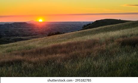 Sunset at Theodore Roosevelt Wilderness