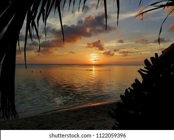 Sunset in  Thoddoo island